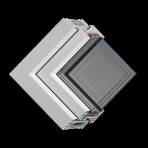 Окно с солнцезащитой VEKA
